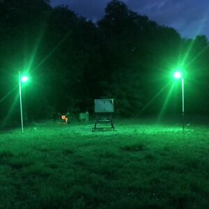 Hog Hunting Light Cree 10 Watt LED, 1000 Lm Bow And Gun Hunting Fun! Solar Power