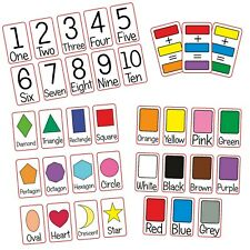 Number Colour Shape 36 Flash Cards Kids Toddlers Preschool Early EYFS Home Learn