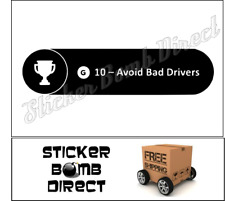 Xbox Achievement Decal Avoid Bad Drivers JDM One Cool Sticker Road Rage Tailgate