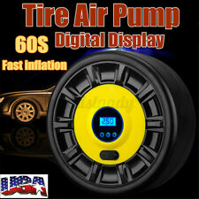 Portable 12V Car Air Pump Compressor Tire Inflator Tyre Digital LED Light