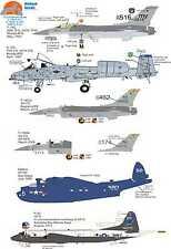 Wolfpak calcomanías 72-078 Moody Blues, F16 Falcon, Maverick Bomber Fantasía Imprenta