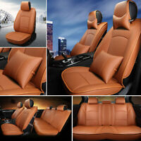 PU Leather Car Seat Cover Full Set Front Rear Seat Cush For Ford F150 2010-2018