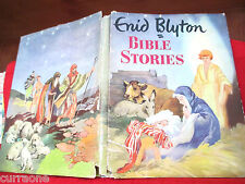 Enid Blyton BIBLE STORIES 1955 hardcover with jacket  illus by Grace Lodge