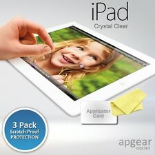 3 X PACK ULTRA CLEAR SCREEN PROTECTOR GAURD FILM FOR APPLE IPAD 2 3 4 RETINA