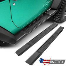 FIT 07-18 Jeep Wrangler JK 2 Door  ABS Black Side Step Nerf Bars Running Boards