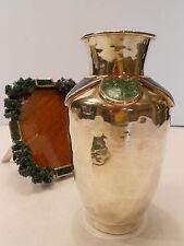 Gorgeous Emilia Castillo Lapis Malachite Vase Heavy Silverplateado Neiman Marcus