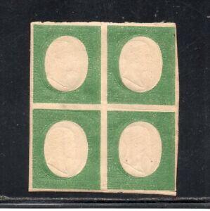 1854 ITALY SARDINIA SA# 10, 5c MINT BLOCK OF 4 STAMPS $72600.00