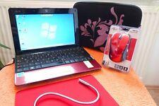 Asus Eee PC 1005 netbook rojo L 10 pulgadas I XXL extras l batería nuevo l Windows 7