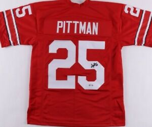 Antonio Pittman Signed Jersey (PSA COA)Ohio State Buckeyes