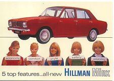 Hillman Minx Arrow Range Advert Modern Postcard by Robert Opie