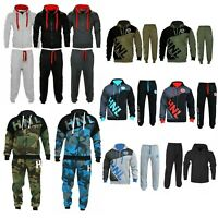 HNL Mens Tracksuit Set Fleece Hoodie Top Bottoms Gym Jogging Joggers S TO 6XL