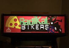 Radikal Bikers Arcade Marquee Midway Translight Header Sign Backlit