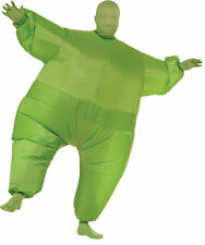 Inflatable Skin Suit Adult Green Blow Up Fat Suit Fancy Dress Halloween Costume