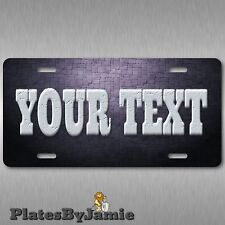Stone on Stone Font Custom Your Text Personalized Vanity License Plate Tag New