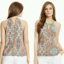 Guess by Marciano TALITHA TILE-PRINT STONE EMBELLISHED CHAIN TANK TOP
