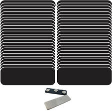 """50 BLANK1 X 3 BLACK /  WHITE NAME BADGES (A) TAGS 1/4"""" CORNERS MAGNETS"""