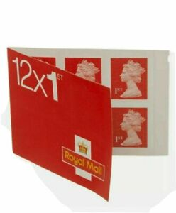 12 x Brand New (1 Book) 1st Class Stamps