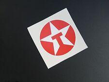 TEXACO ROUND Racing Adesivo / Decalcomania x2