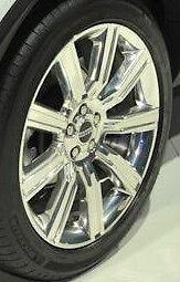"Range Rover Evoque OEM 20"" Style 6 Wheels Polished 9 Spoke Silver Alloy Set Of 4"