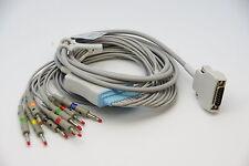 MORTARA 10 WIRE 12 LEAD ECG/EKG Cable AHA Banana 4.0mm for ELI-200,ELI-150 NEW