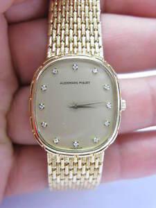 18Kt Audemars Piguet Diamond Dial Yellow Gold Watch