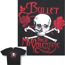 BULLET FOR MY VALENTINE SKULL & ROSES YOUTH KIDS BLACK T-SHIRT CHILD'S MED NEW