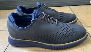 Cole Haan 2.ZeroGrand Laser Wingtip Oxford Blue C26034 Men Size 7