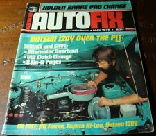 1975.AUTO FIX. First ISSUE 1.Ford XA Falcon.Toyota HI-LUX.Datsun 120Y Wheels.Car