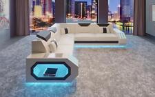 Sofá de la Esquina Cuero Diseñador Lujo Asiento Tapicería Paisaje Residencial H1