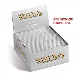 RIZLA 1600 CARTINE LUNGHE SILVER ARGENTO 1 Box di 50 Libretti da 32 Fogli