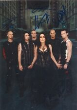"Within Temptation genuine autograph IN PERSON signed 6""x8"" photo symphonic metal"