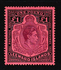 Leeward Islands. SG 114b, £1 brown purple & black/salmon. Unmounted mint.