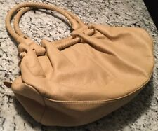 "Handbag Satchel,Organizer Inner Pockets, Beige/Tan, Braid Handle, Approx 10""x16"""