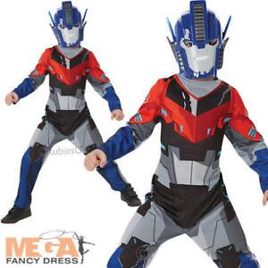 Transformers Optimus Prime Boys Fancy Dress Superhero Childs Transformer Costume