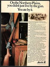 1982 MARLIN Golden 39A Lever Action .22 RIFLE AD w/Northern Plains Rabbit Recipe