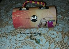 Hannah Montana/Miley Cyrus Metal/Tin Box-Purse/Lunchbox-New in Box With Bracelet