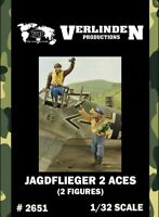 Verlinden 1:32 Jagdflieger 2 Aces - 2 Resin Figures Kit #2651