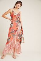 NWT Anthropologie Farm Rio Pink Musette Maxi Dress L Petite