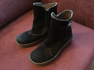 Ladies Fly London Black Suede Soft Warm Ankle Boots With Zip Size 8/41
