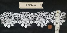 A15 Vintage Silky Floral Lace Trim Sewing Salvage Bridal Wedding DIY Embellish