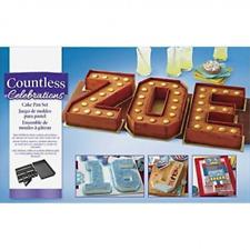 Stampo teglia per torte componibile lettere e numeri  antiaderente set tortiera