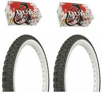 "262137 Tire Duro 24/"" x 1 3//8/"" Black//White Side Wall HF-109"