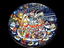 """Happy New Year 2000, Millennium Down Under, whimsical cat plate by Bill Bell"