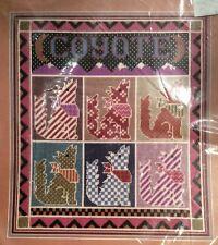 Coyote Candamar Vtg Needlepoint Kit Susan Treglown Southwest New 30664 15x17