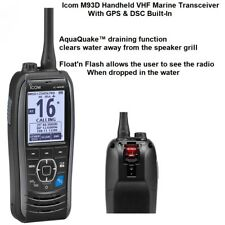 Icom M93D Handheld VHF Marine Transceiver + GPS & DSC Built-In With AquaQuake™