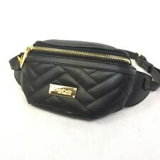 NWT Babe Fanny Pack Adjustable Waist Logo Hip Body Bag Sack Faux Leather
