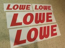"Lowe Jon Boat Vintage Fishing Decal RED 12"" 4-PAK FREE SHIP + FREE Fish Decal!"