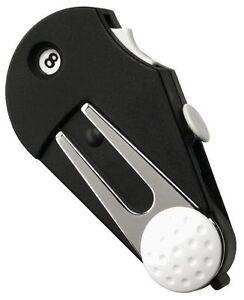 Multi-Golftool mit Schlagzähler, Pitchgabel, Bürste, Ballmarker und Gürtelclip