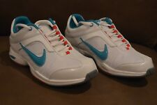 Nike Womens Air Essential Sister II Athletic Shoes Sneakers White Blue Red Sz 8