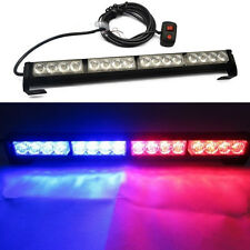 16 LED Blue Red Car Police Strobe Flash Light Dash Emergency Warning Flashing